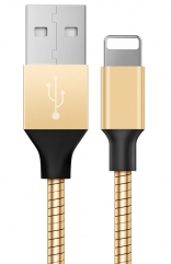 Кабель Baseus Mechanical Era Metal Cable 1M For Apple Gold (CALJS-0V)