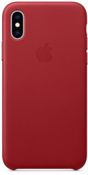 Apple iPhone XS Leather Case - PRODUCT RED (MRWK2)