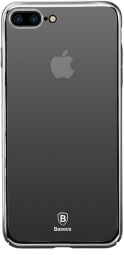 Чехол Baseus Glass Case For iPhone 7 Mirror black (WIAPIPH7-GZ01)