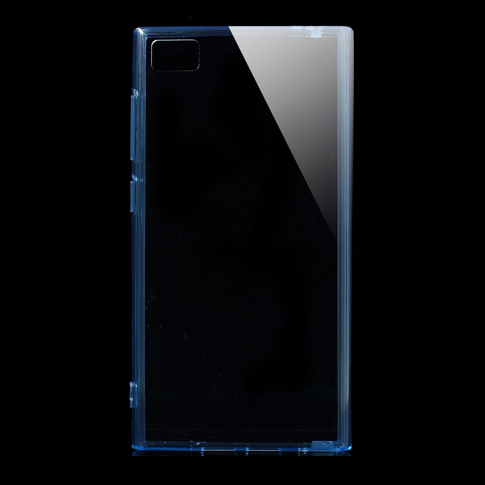 Пластиковая накладка EGGO для Xiaomi MI-3 (Прозрачная/Синяя)