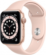 Apple Watch SE GPS 44mm Gold Aluminum Case w. Pink Sand Sport B. (MYDR2)