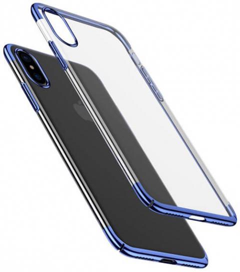 """Пластиковая накладка Baseus Glitter Case Ultrathin для Apple iPhone X (5.8"""") (Синий) (WIAPIPHX-DW03)"""