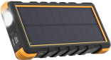 RAVPower Solar Charger 25000mAh Power Bank Outdoor, Shock, Dust and Waterproof Orange/Black (RP-PB092)