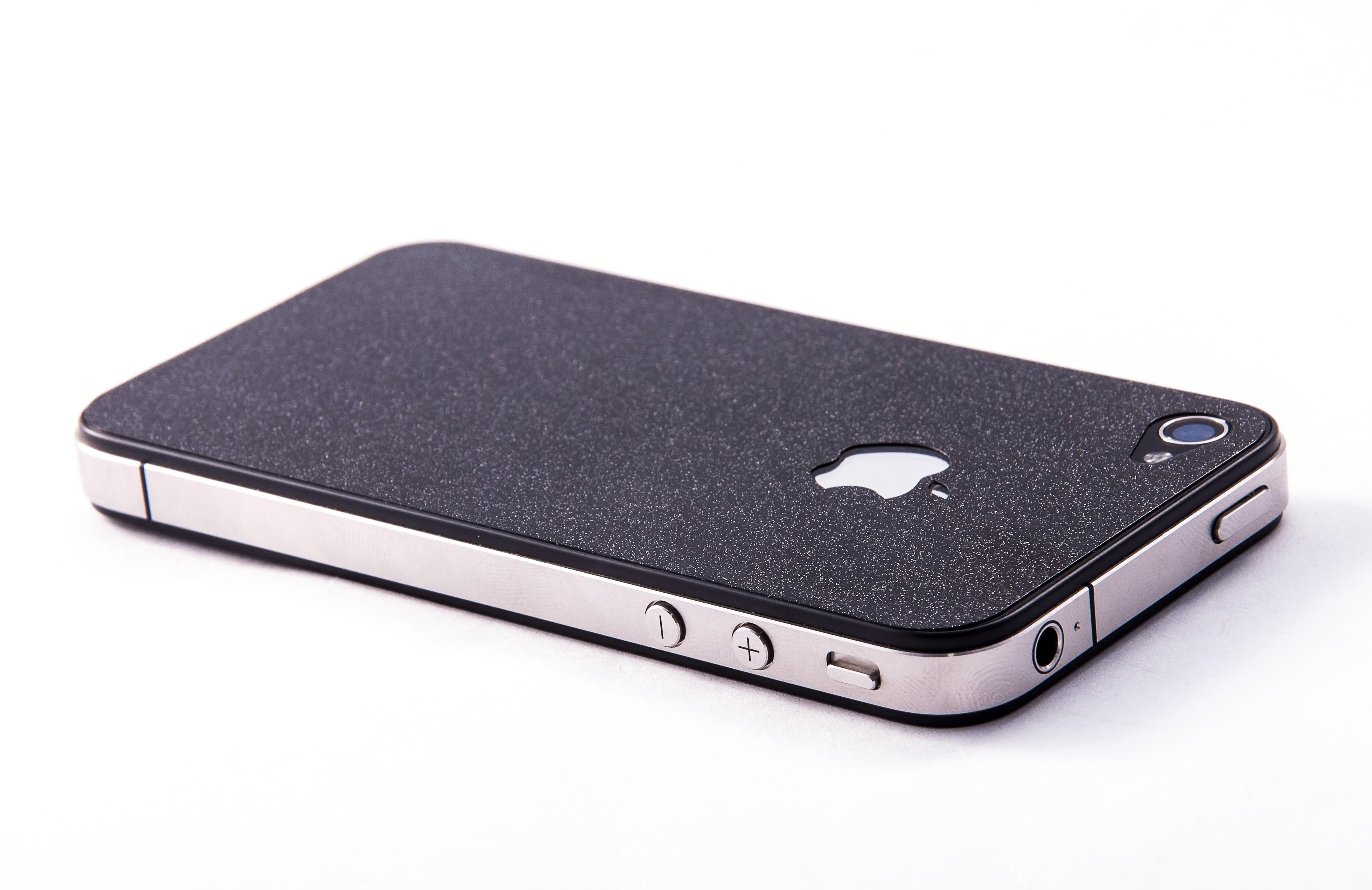 Пленка защитная EGGO iPhone 4/4S Crystalcover black BackSide (черная, перламутровая)