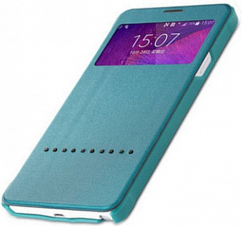 Чехол (книжка) Rock Rapid Series для Samsung N910S Galaxy Note 4 (Бирюзовый / Green) - ITMag