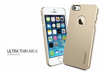 Пластиковая накладка SGP iPhone 5S/5 Case Ultra Thin Air A Series Champagne Gold (SGP10607) - ITMag