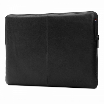 "DECODED Leather Slim Sleeve with Zipper for MacBook 12"" Black (D4SS12BK) - ITMag"