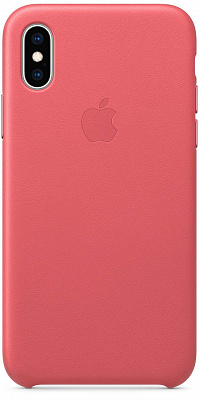 Apple iPhone XS Leather Case - Peony Pink (MTEU2) - ITMag