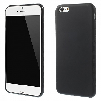 Антискользящий TPU чехол EGGO для iPhone 6 Plus/6S Plus - Black - ITMag