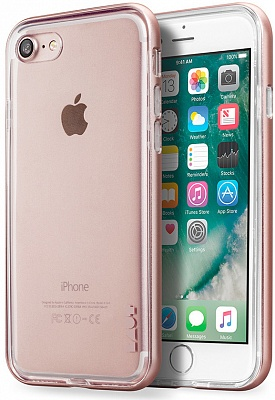 Бампер LAUT EXO-FRAME Aluminium bampers для iPhone 7 - Rose Gold (LAUT_IP7_EX_RG) - ITMag