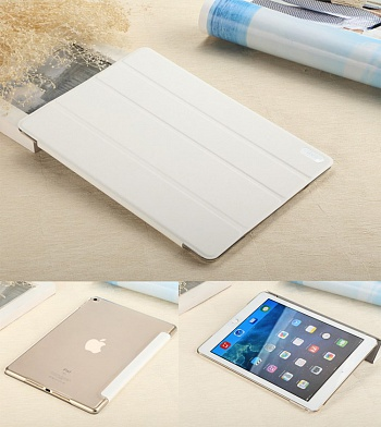 Чехол USAMS Viva Series for iPad Air 2 Slim Four-fold Stand Smart Leather Case - White - ITMag