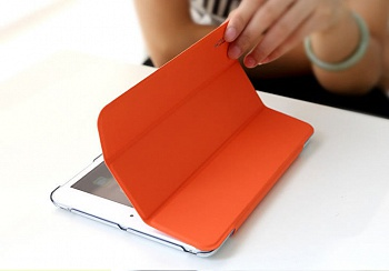 Чехол (книжка) Rock Touch series для Apple IPAD mini (RETINA)/Apple IPAD mini 3 (Оранжевый / Orange) - ITMag