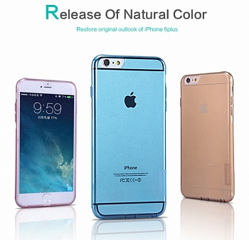 "TPU чехол Nillkin Nature Series для Apple iPhone 6 Plus/6S Plus (5.5"") Серый (прозрачный) - ITMag"