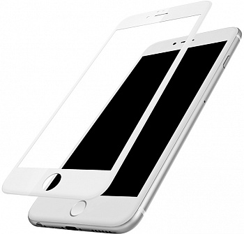 Защитное стекло Baseus Silk-screen 3D Arc Protective Film для iPhone 6 Plus/6s Plus White (SGAPIPH6SP-B3D02) - ITMag