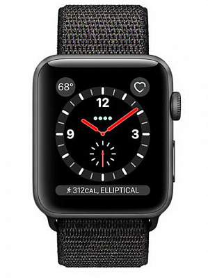 Apple Watch Series 3 GPS + Cellular 42mm Space Gray Case w. Black Sport L. (MRQF2) - ITMag