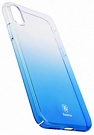 "Пластиковая накладка Baseus Glaze Ultrathin для Apple iPhone X (5.8"") (Синий / Transparent Blue) (WIAPIPHX-GC03) - ITMag"
