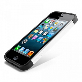 Пластиковая накладка SGP Slim Armor S Series для Apple iPhone 5/5S (Белый / Smooth White) - ITMag