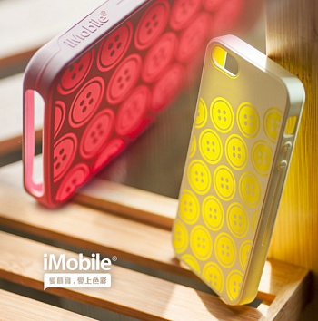 Силиконовый чехол iMobile Impression Laser Series для Apple iPhone 5/5S (Honey / Pink) - ITMag