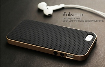 Чехол iPaky PC+TPU для iPhone 5 / 5s / SE (Gold Frame) - ITMag