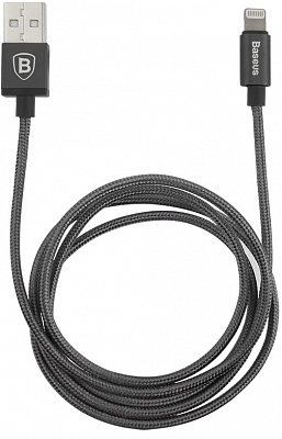 Кабель Baseus Simple Version of AntiLa Series MFI Metal Charging Cable 1.8M For Apple Black (CAETRTC-MFC01) - ITMag