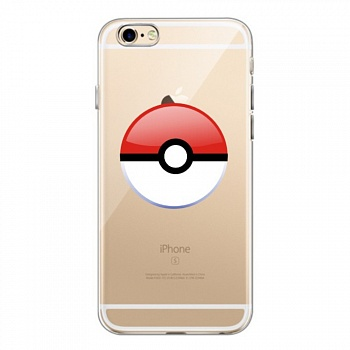 TPU чехол EGGO Pokemon Go Poke Ball для iPhone 6/6S (Red) - ITMag