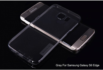 TPU чехол Nillkin Nature Series для Samsung G925F Galaxy S6 Edge (Серый (прозрачный)) - ITMag