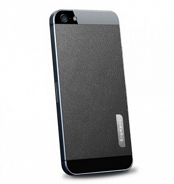 Защитная наклейка SGP Skin Guard Set Series для Apple iPhone 5/5S (Черная кожа / Deep Black Leather) - ITMag