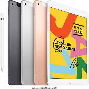 Apple iPad 10.2 Wi-Fi + Cellular 32GB Silver (MW6X2, MW6C2) - ITMag