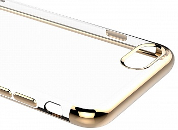 Чехол Baseus Shining Case (TPU) For iphone7 Gold (ARAPIPH7-MD0V) - ITMag