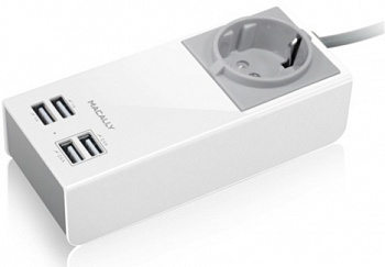 Зарядное Macally 4USB (2.1A+1A) White (UNISTRIP2-EU) - ITMag