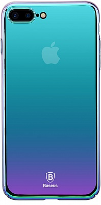 Чехол Baseus Glass Case For iPhone 7 Plus Violet-blue (WIAPIPH7P-GZ03) - ITMag
