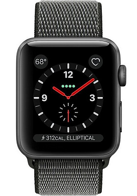 Apple Watch Series 3 GPS + Cellular 38mm Space Gray Aluminum w. Dark Olive Sport L. (MQJT2) - ITMag