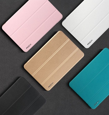 Кожаный чехол (книжка) Rock Uni Series для Apple IPAD mini (RETINA)/Apple IPAD mini 3 (Синий / Blue) - ITMag