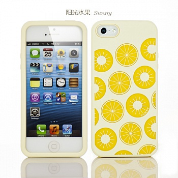 Силиконовый чехол iMobile Impression Laser Series для Apple iPhone 5/5S (Sunny / Yellow) - ITMag