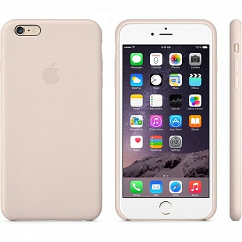 Apple iPhone 6 Plus Leather Case - Soft Pink MGQW2 - ITMag