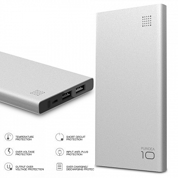 Power Bank PURIDEA S6 10000mAh Li-Pol Серый (S6-Grey) - ITMag