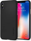 Spigen Case Thin Fit for iPhone X matt black (057CS22108) - ITMag