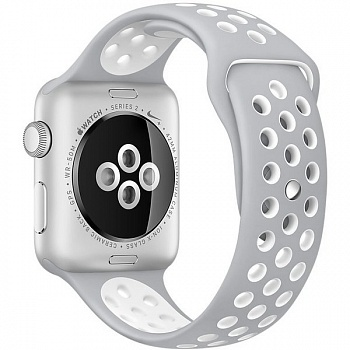 Apple Watch Nike+ 42mm Silver Aluminum Case with Silver/White Nike Sport Band (MNNT2) - ITMag