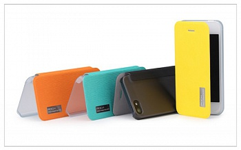 Чехол (книжка) Rock Elegant Series для Apple iPhone 5/5S (Оранжевый / Orange) - ITMag