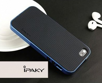 Чехол iPaky TPU+PC для Apple iPhone 5/5S/SE (Синий) - ITMag