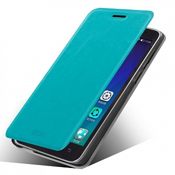 Чехол MOFI Rui Series Folio Leather Stand Case для Lenovo A606 (Бирюзовый/Blue) - ITMag