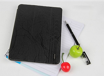 Чехол USAMS Jane Series for iPad Air Tri-fold Stand Smart Leather Case Black - ITMag