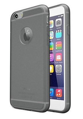 Colorant Soft Clear case - Clear Black iPhone 6/6S (7521) - ITMag