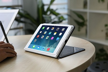 Чехол (книжка) ROCK Luxurious Series для Apple IPAD mini (RETINA) (Черный / Black) - ITMag