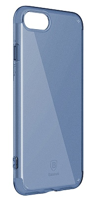 Чехол Baseus Simple Series Case (Anti-Scratch) For iPhone7 Transparent Blue (ARAPIPH7-C03) - ITMag