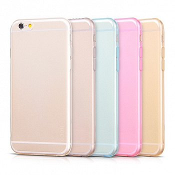 Чехол HOCO Light Series 0.6mm Ultra Slim TPU Jellly Case for iPhone 6/6S - Transparent Gold - ITMag