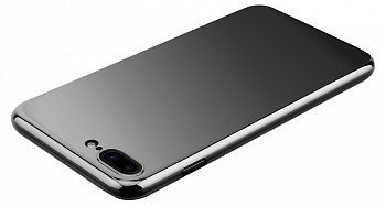 Чехол Baseus Glass Case For iPhone 7 Mirror black (WIAPIPH7-GZ01) - ITMag