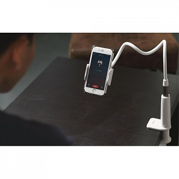 Крепление на стол ROCK 360° Rotary Detachable Desktop Mount Holder for mobilephone - Silver - ITMag