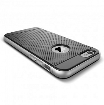 Verus Iron Shield case for iPhone 6/6S (Black-Silver) - ITMag