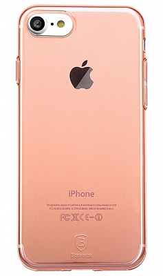 Чехол Baseus Simple Series Case (Clear) For iPhone7 Transparent Rose Gold (ARAPIPH7-B0R) - ITMag